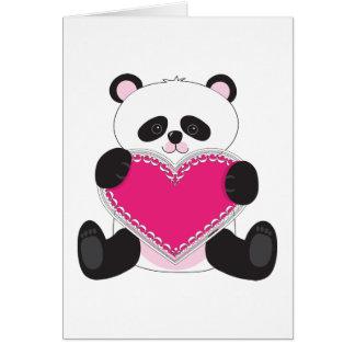 Cartes Coeur de panda