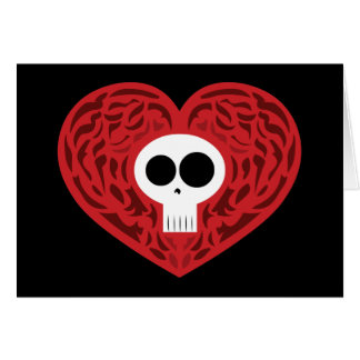 Cartes Coeur de tatouage de crâne