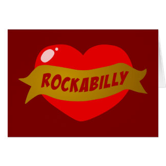 Cartes Coeur de tatouage de rockabilly