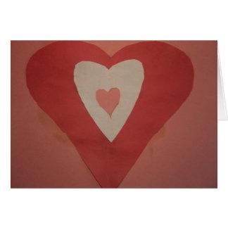 Cartes Coeur de Valentine - collage de papier