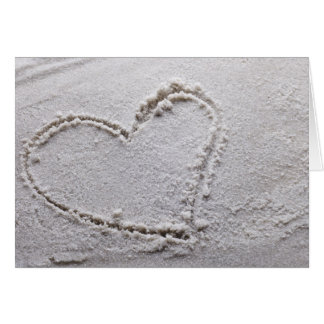 Cartes Coeur dessiné en sable au modèle customisé par