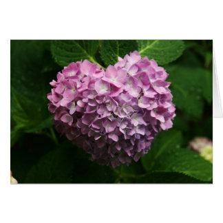 Cartes coeur d'hortensia