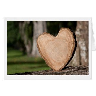 Cartes coeur en bois