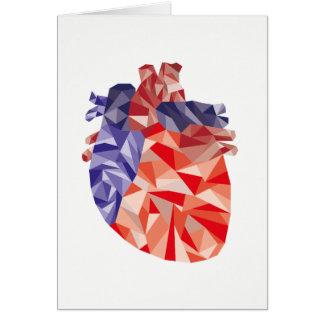 Cartes Coeur géométrique