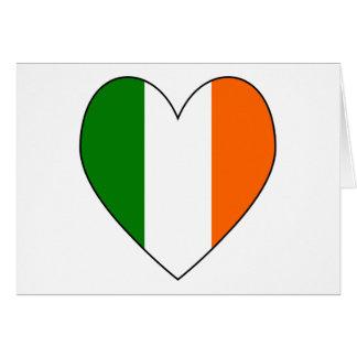 Cartes Coeur irlandais Valentine de drapeau