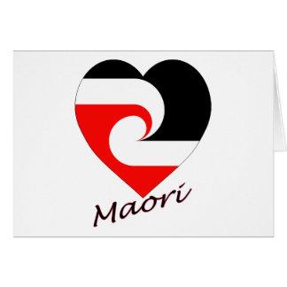 Cartes Coeur maori de drapeau