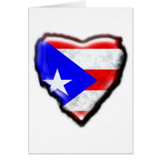Cartes Coeur portoricain de drapeau