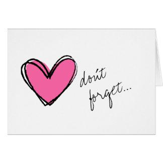 Cartes Coeur rose