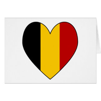 Cartes Coeur Valentine de drapeau de la Belgique