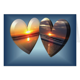 Cartes Coeurs de coucher du soleil