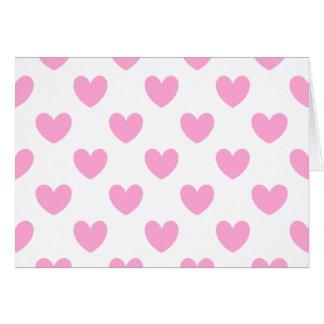 Cartes Coeurs de polka de rose de sucrerie de coton sur