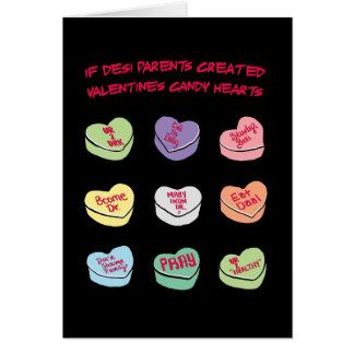 Cartes Coeurs de sucrerie de conversation de Desi