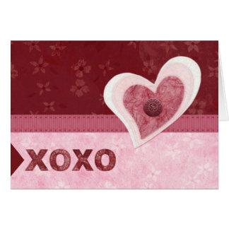 Cartes Coeurs de tissu, baisers de n d'étreintes '