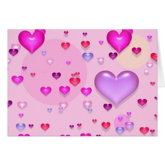 Cartes Coeurs roses pour la Saint-Valentin -