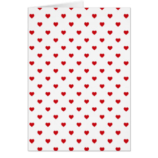 Cartes Coeurs rouges de point de polka de sucrerie de