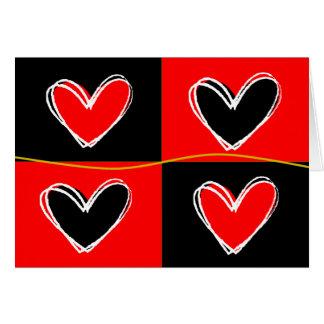 Cartes Coeurs rouges et noirs