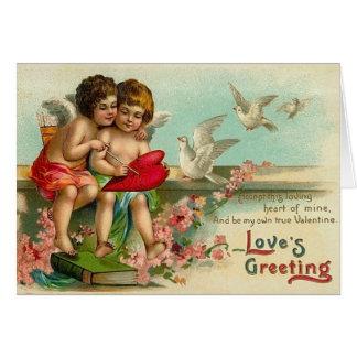 Cartes Coeurs vintages de cupidon