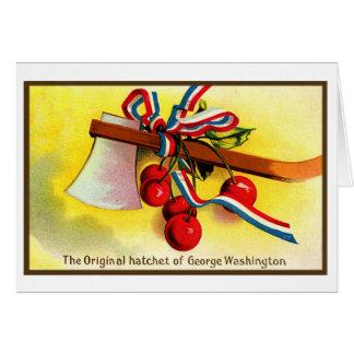 Cartes Cognée vintage de George Washington de Jour de la