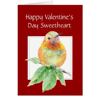 Cartes Colibri Rufous de Saint-Valentin d'amoureux
