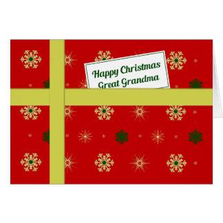 Cartes Colis rouge de Noël de grande grand-maman