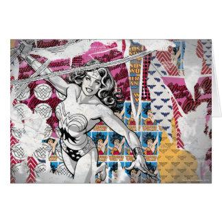 Cartes Collage 5 de femme de merveille