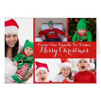 Cartes Collage de photo de Noël de Joyeux Noël bonnes