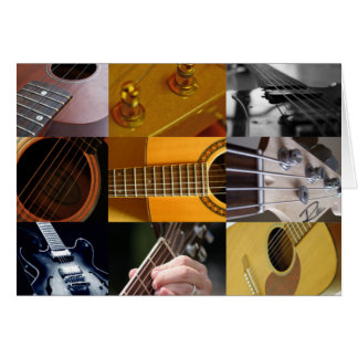 Cartes Collage de photos de guitare