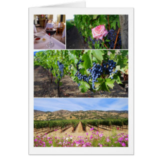 Cartes Collage de vignoble de la Californie