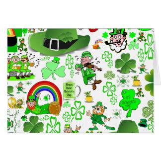 Cartes Collage du jour de St Patrick