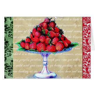 Cartes Collage vintage de fraises