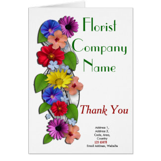 Cartes Collection de thème d'affaires de fleuriste