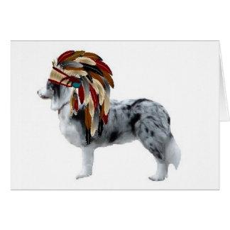 Cartes Colley Ditzy de Dogs~Original Notecard~Border