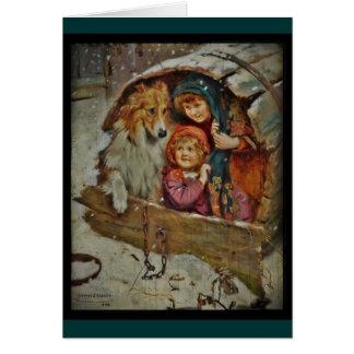 Cartes Colley et enfants dans le chenil