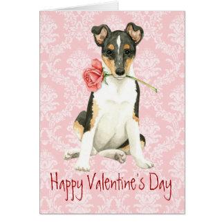 Cartes Colley lisse de rose de Valentine