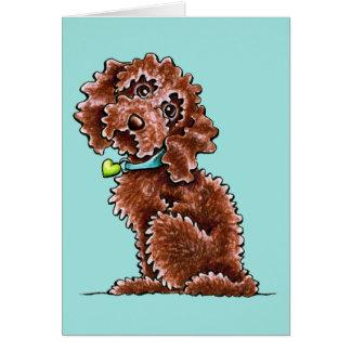 Cartes Collier de coeur de Cockapoo de chocolat