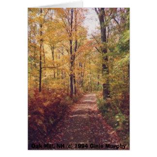 """Cartes """"Colline de chêne en automne, Loudon, NH """""""