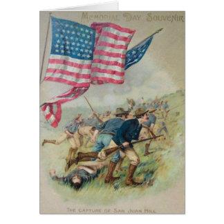 Cartes Colline Roosevelt de San Juan de drapeau des USA