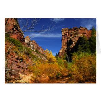 Cartes Collines rouges paysage, souterrain, Zion NP,