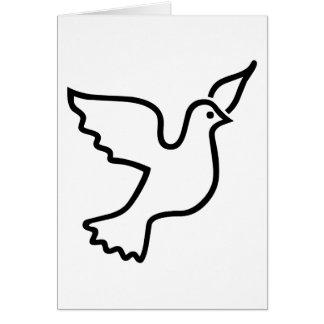 Cartes Colombe de paix