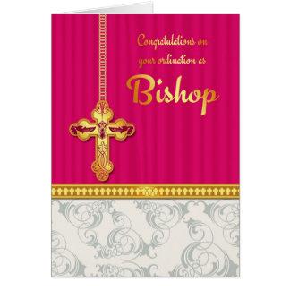 Cartes Color de félicitations d'évêque Ordination In
