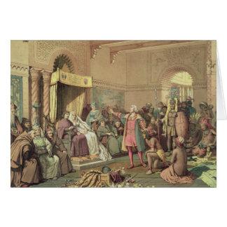 Cartes Columbus à la cour royale de l'Espagne à Barcelone