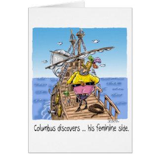 """Cartes """"Columbus découvre… son côté féminin """""""