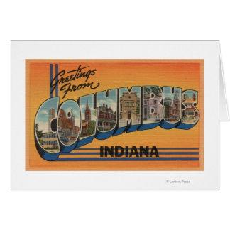 Cartes Columbus, Indiana - grandes scènes de lettre