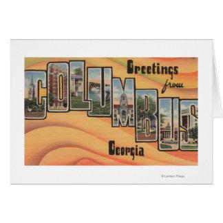 Cartes Columbus, la Géorgie - grandes scènes de lettre