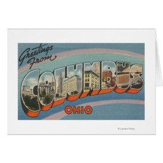 Cartes Columbus, Ohio - grandes scènes 2 de lettre