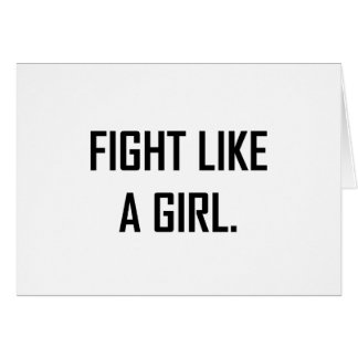 Cartes Combat comme une fille