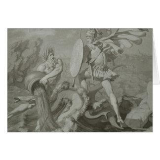 Cartes Combat d'Achille avec la rivière Scamander