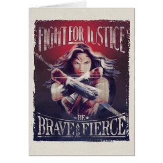 Cartes Combat de femme de merveille pour la justice