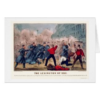 Cartes Combat volontaire de rue à Baltimore 1861