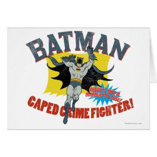 Cartes Combattant de crime de Batman Caped
